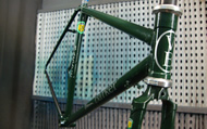 Custom built 853 touring frame with 725 stays